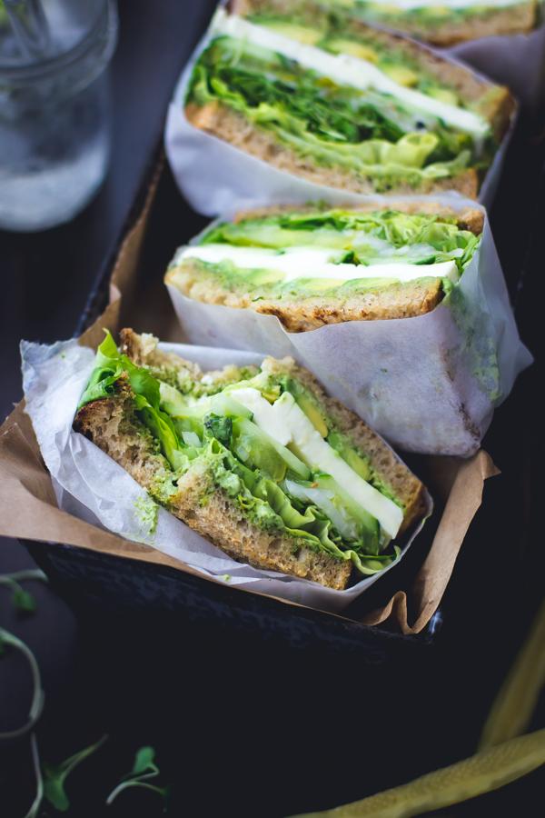 Green Goddess Sandwiches from The Bojon Gourmet on foodiecrush.com