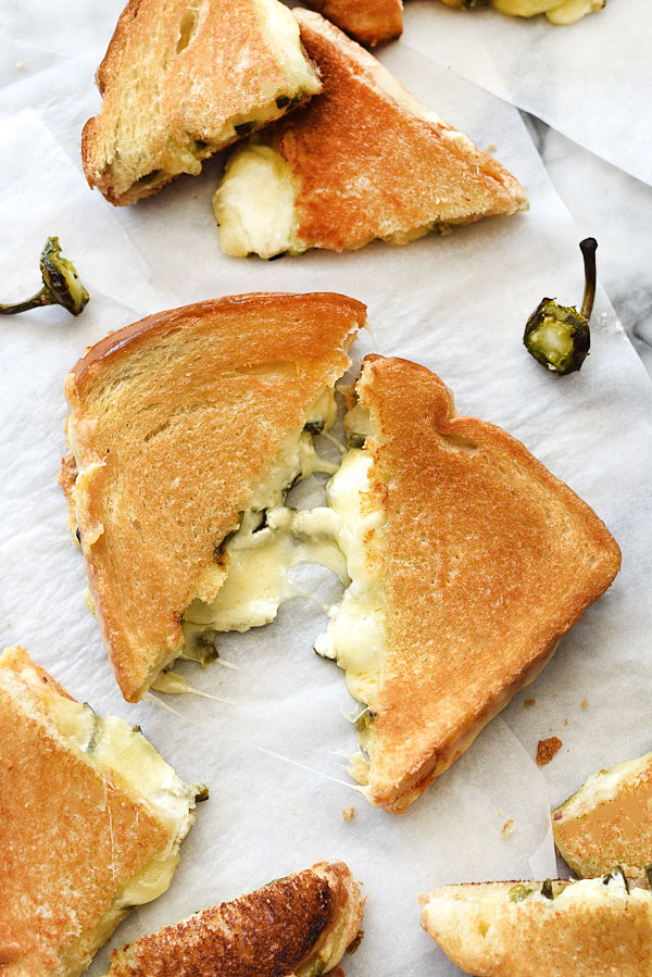 Jalapeño Popper Grilled Cheese Sandwich | foodiecrush.com #sandwich #jalapenopoppers #lunches