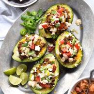 Taco Stuffed Avocados | foodiecrush.com