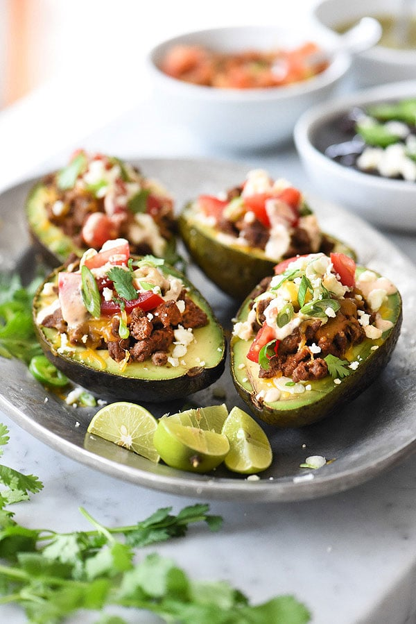 Taco Stuffed Avocados | foodiecrush.com
