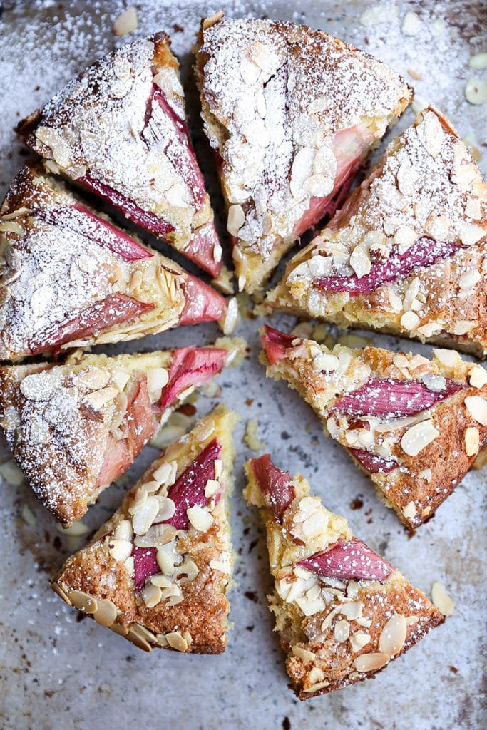 Rhubarb-Almond Cake from Floating Kitchen on foodiecrush.com