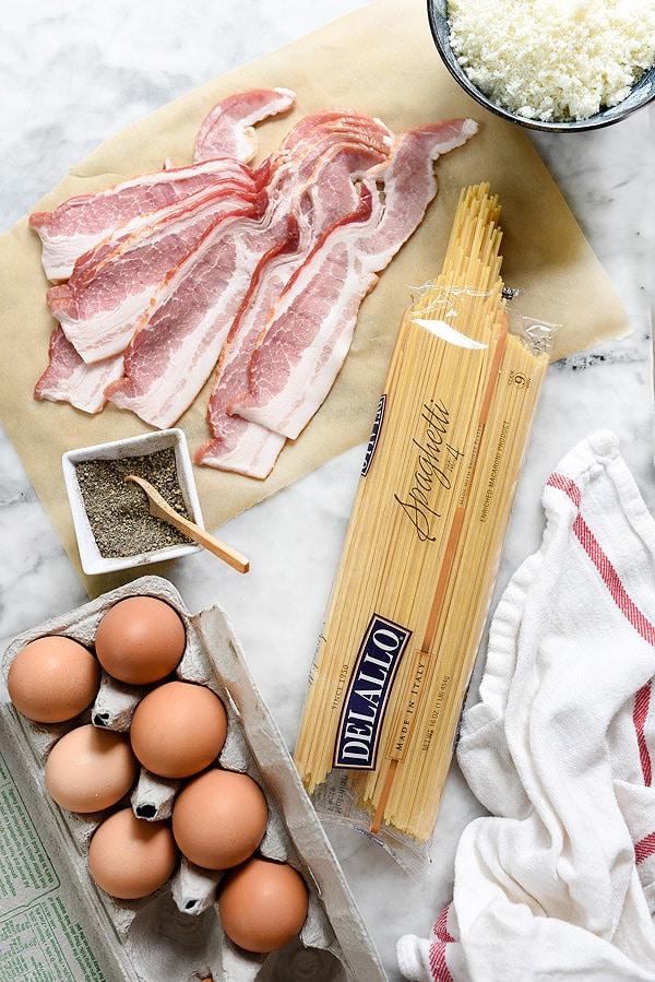Spaghetti alla Carbonara recipe | foodiecrush.com