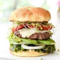 California-Style Bison Burgers | foodicrush.com
