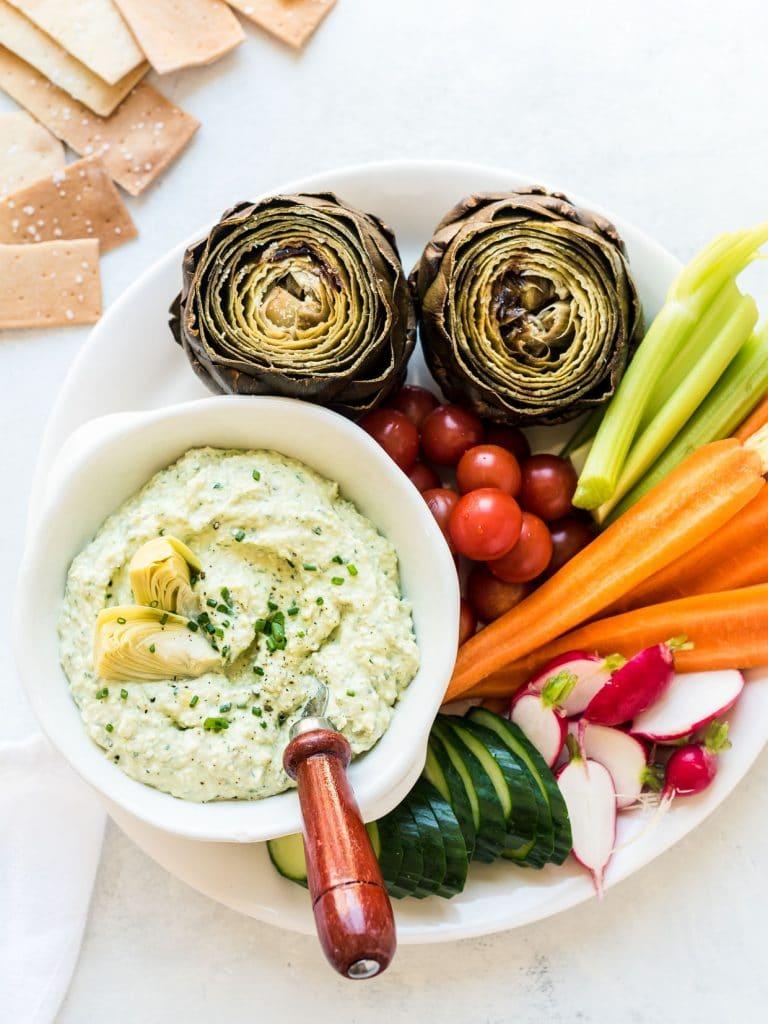 Artichoke and Avocado Dip by Kitchen Confidante on foodiecrush.com