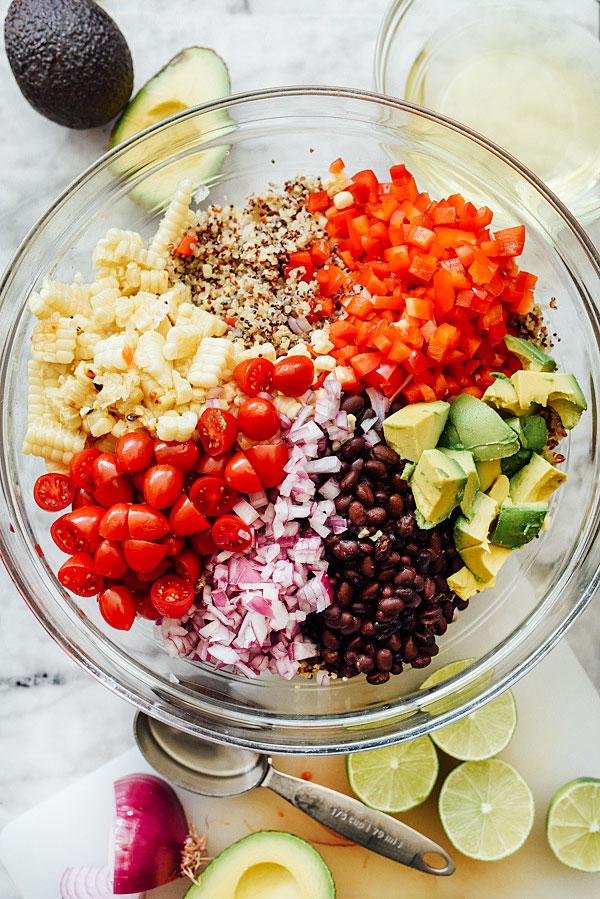 Latin Chipotle Quinoa Salad with Avocado | foodiecrush.com
