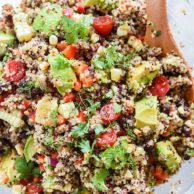 Latin Chipotle Quinoa Salad with Avocado | foodiecrush.com