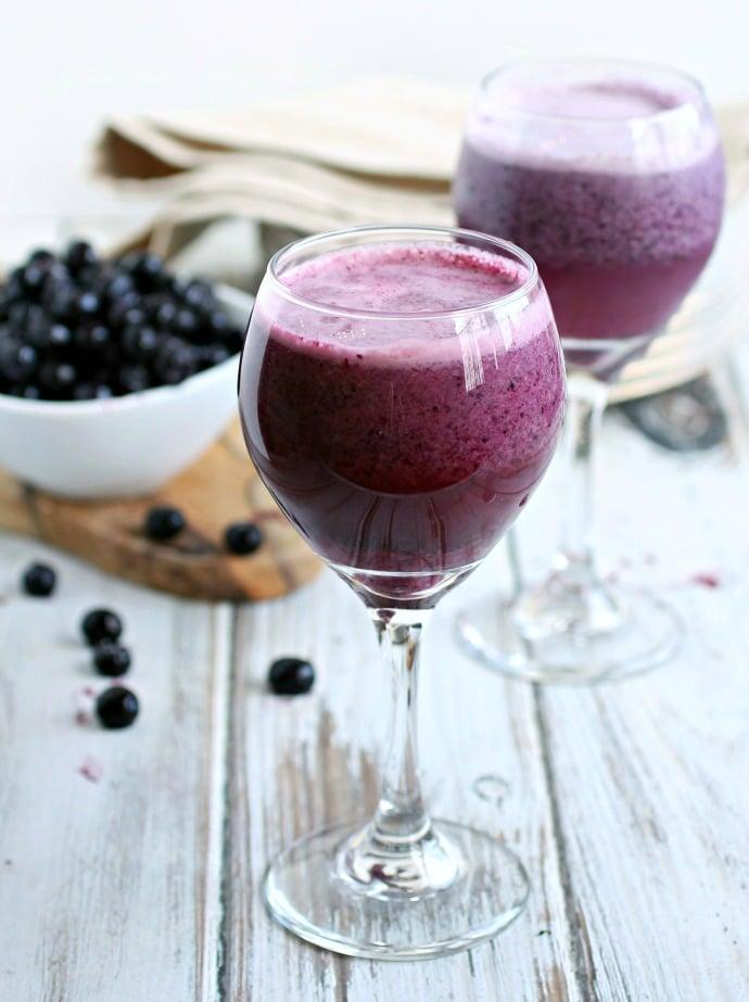 Blueberry Cream Wine Slush from hungrycouplenyc.com on foodiecrush.com