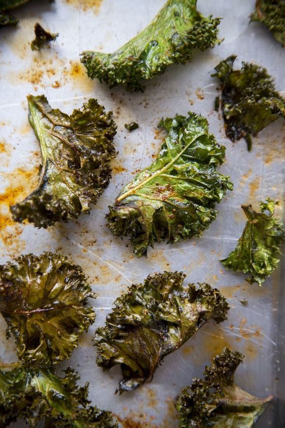 Spicy Kale Chips from donalskehan.com on foodiecrush.com