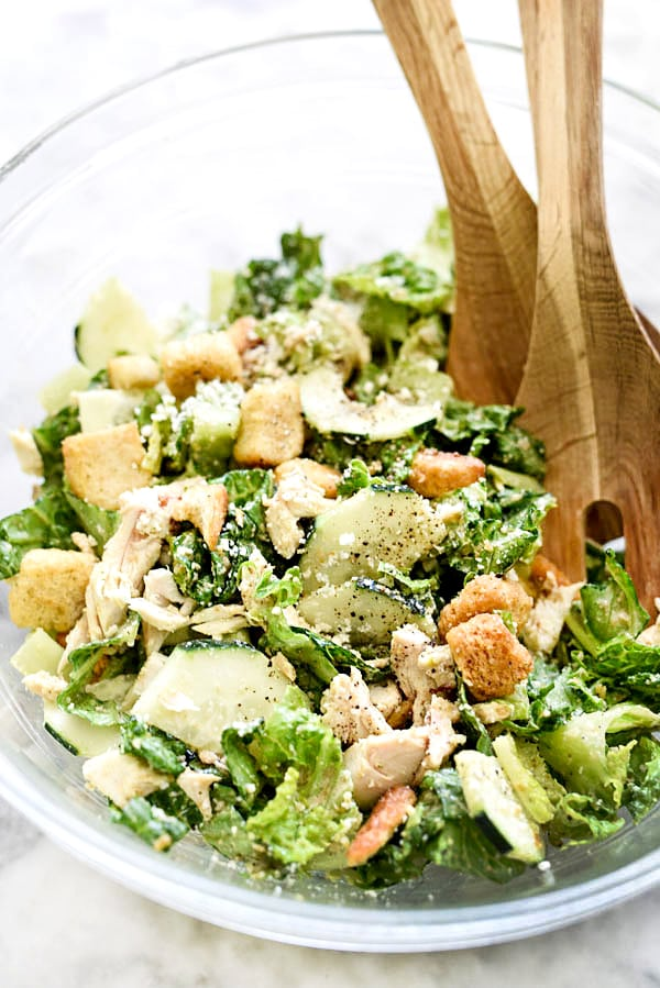 Chicken Caesar Salad Recipe Foodiecrush Com