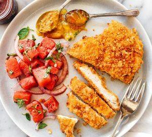 Potato Chip Crusted Chicken Breasts Recipe Foodiecrush Com