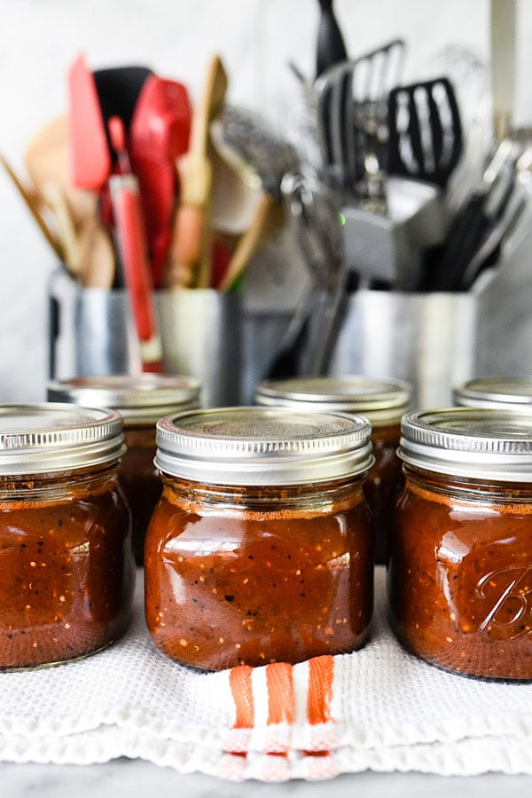 Smoky Roasted Tomato Salsa Recipe | foodiecrush.com