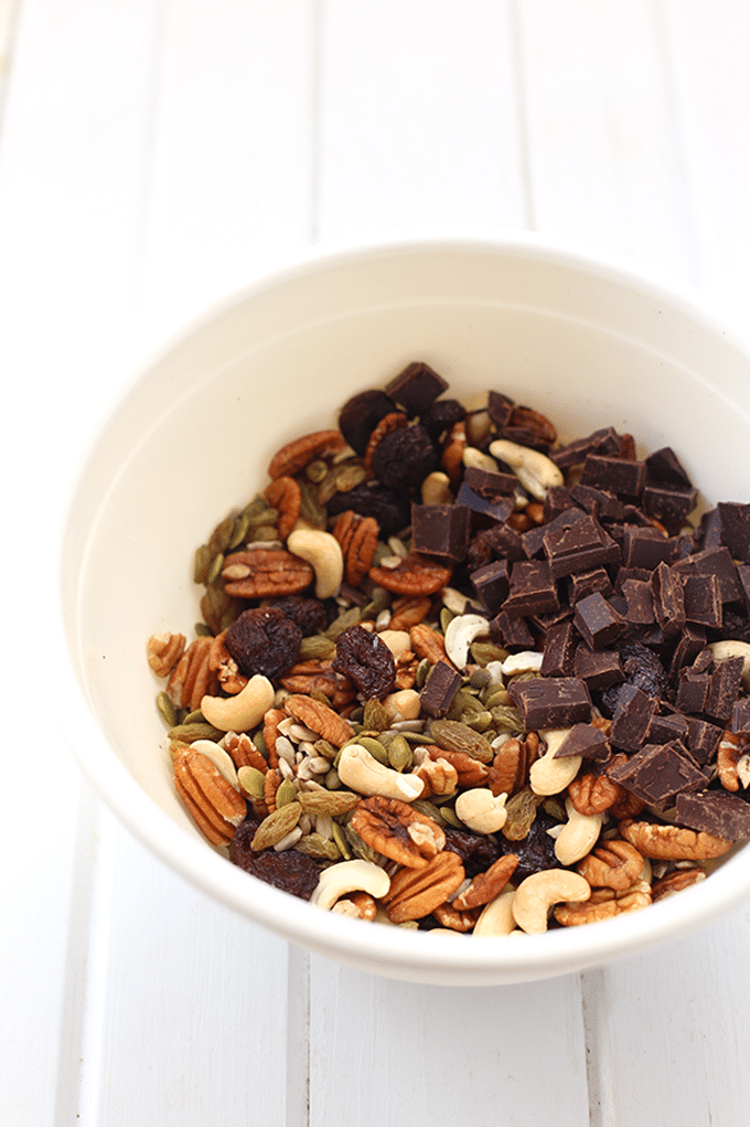 Healthy Trail Mix from thehealthymaven.com on foodiecrush.com