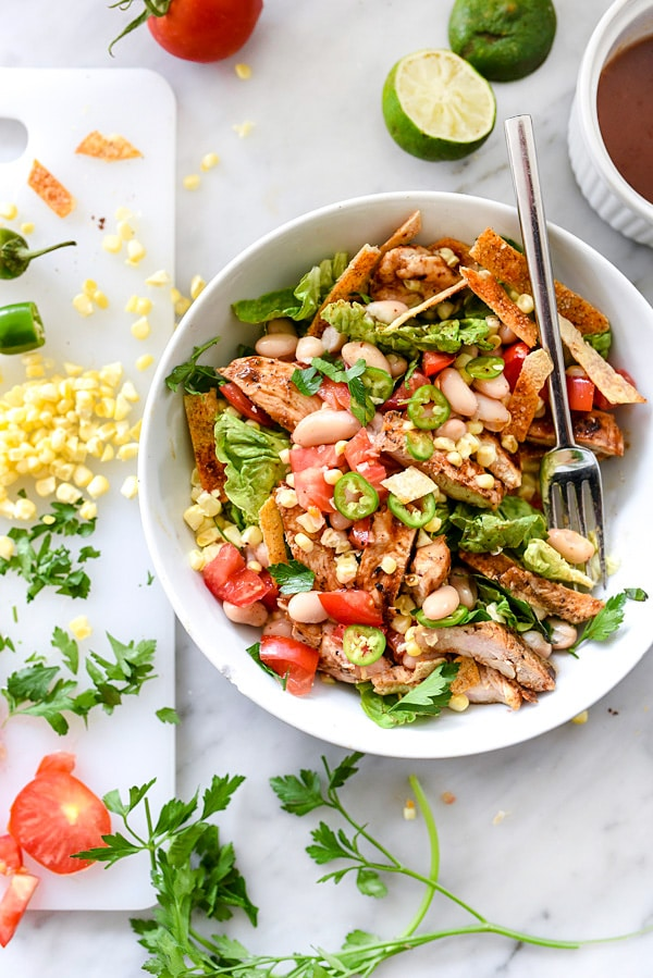 BBQ Chicken Salad | foodiecrush.com