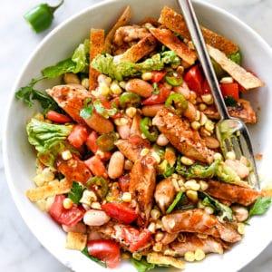 BBQ Chicken Salad | foodiecrush.com