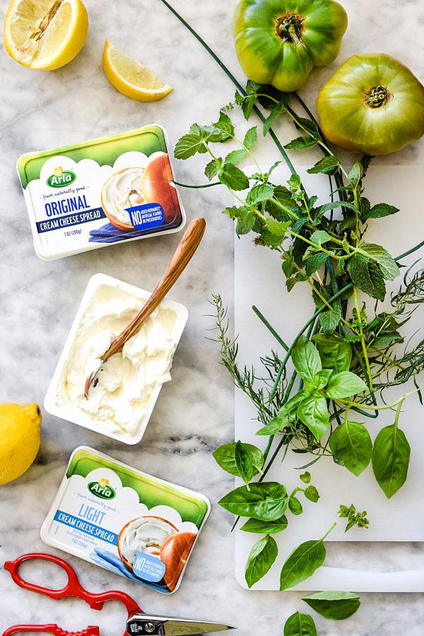 Green Goddess Cream Cheese Sandwich | foodiecrush.com