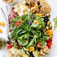 Italian-Inspired Salad Plate | foodiecrush.com