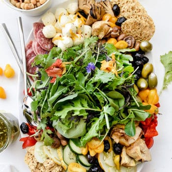 Italian-Inspired Salad Plate   foodiecrush.com