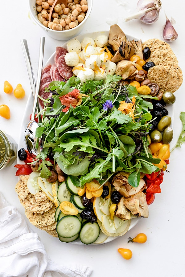 Italian-Inspired Salad Plate | #Italian #easy #recipe #foracrowd #salad foodiecrush.com