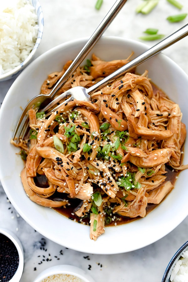 Slow Cooker Teriyaki Chicken | #easy #crockpot #healthy #recipes foodiecrush.com
