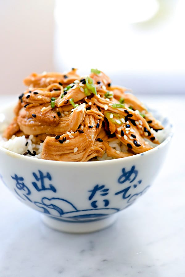 Crockpot Teriyaki Chicken | #easy #crockpot #healthy #recipes foodiecrush.com