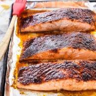 Maple-Crusted Salmon | foodiecrush.com