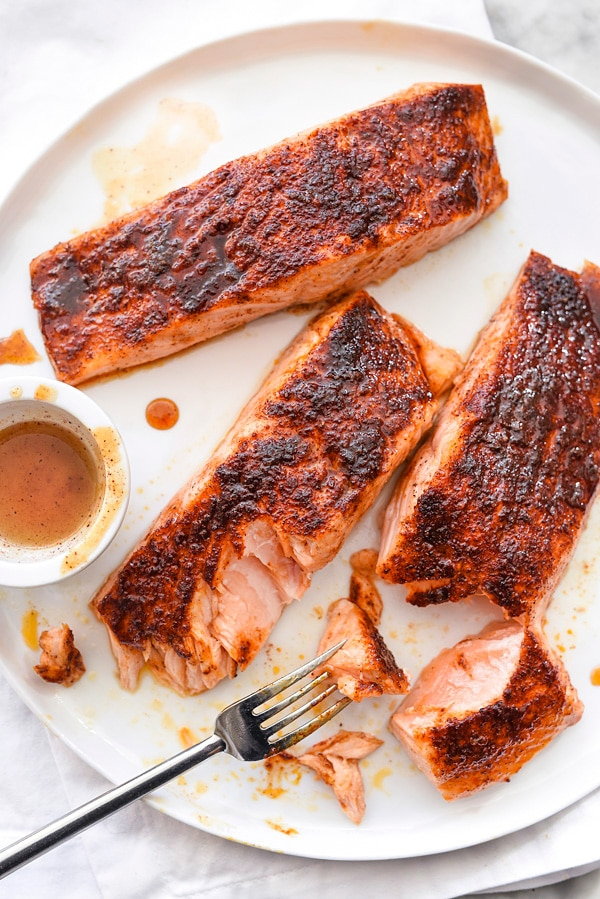 Maple-Crusted Salmon | #recipes #glazed #baked #healthy #oven #easy foodiecrush.com