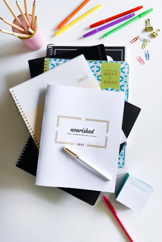The Nourished Planner is a goal-setting guide, a daily, weekly and monthly calendar, a to-do list, and a meal planner all in one. It's goal is to inspire you to create your best self, which can only come from one thing: Taking control of your time, your life and your health | foodiecrush.com
