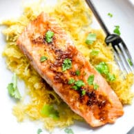 Orange Spiced Salmon with Spaghetti Squash | foodiecrush.com