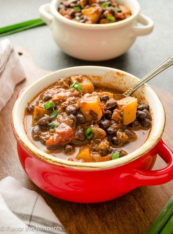 chorizo-black-bean-kabocha-squash-chili1-flavorthemoments-com