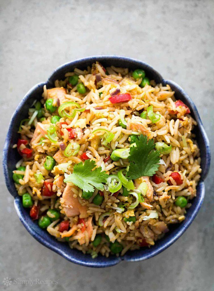 Salmon Fried Rice   Simply Recipes on foodiecrush.com