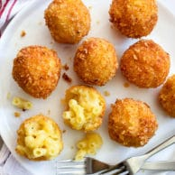 Fried Mac n Cheese Balls | foodiecrush.com