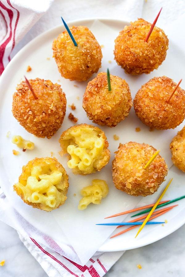 Fried Mac n Cheese Balls | foodiecrush.com