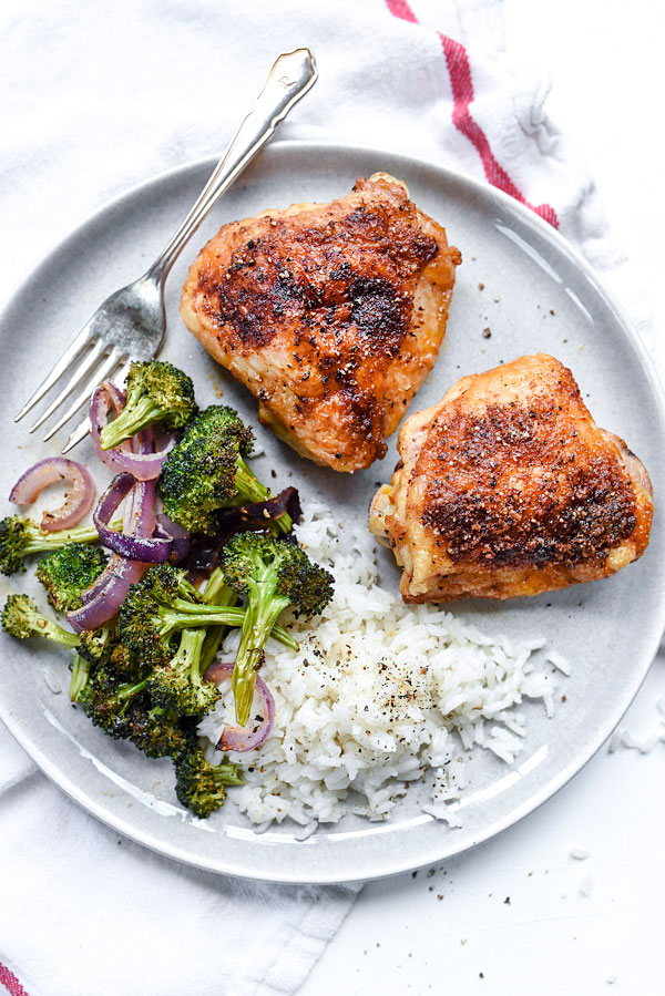 Smoked Paprika Chicken | #thighs #baked #recipes #easy foodiecrush.com