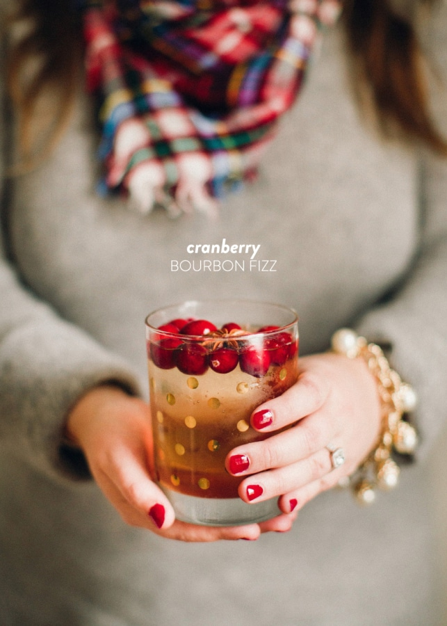 Cranberry Bourbon Fizz from Style Me Pretty on foodiecrush.com