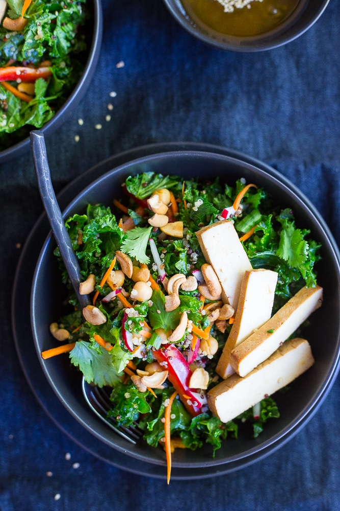 Asian Kale Power Salad by She Likes Food on foodiecrush.com