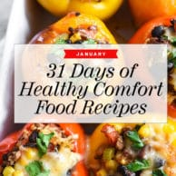31 Days of Healthy Comfort Food Recipes to ring your New Year in right | foodiecrush.com