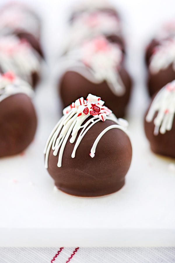 Peppermint Truffles Recipe | foodiecrush.com