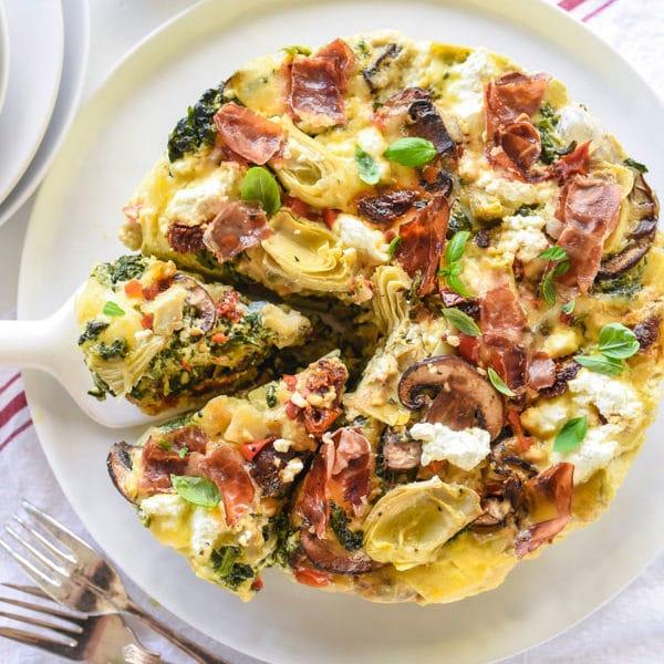 Slow Cooker Mediterranean Egg Casserole | foodiecrush.com