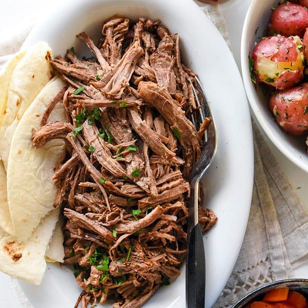Slow Cooker Mexican Pot Roast | foodiecrush.com