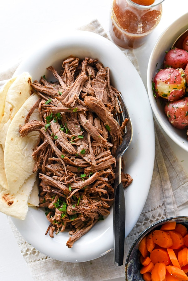 Mexican Crockpot Pot Roast | #recipes #easy #slowcooker #crockpot #meat foodiecrush.com