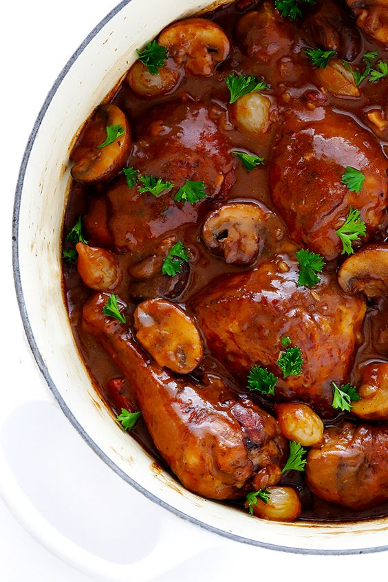 Coq Au Vin from gimmesomeoven.com on foodiecrush.com