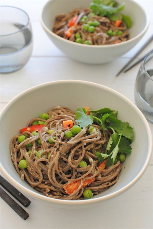 Coconut Soba Noodle Bowls from Bev Cooks on foodiecrush.com