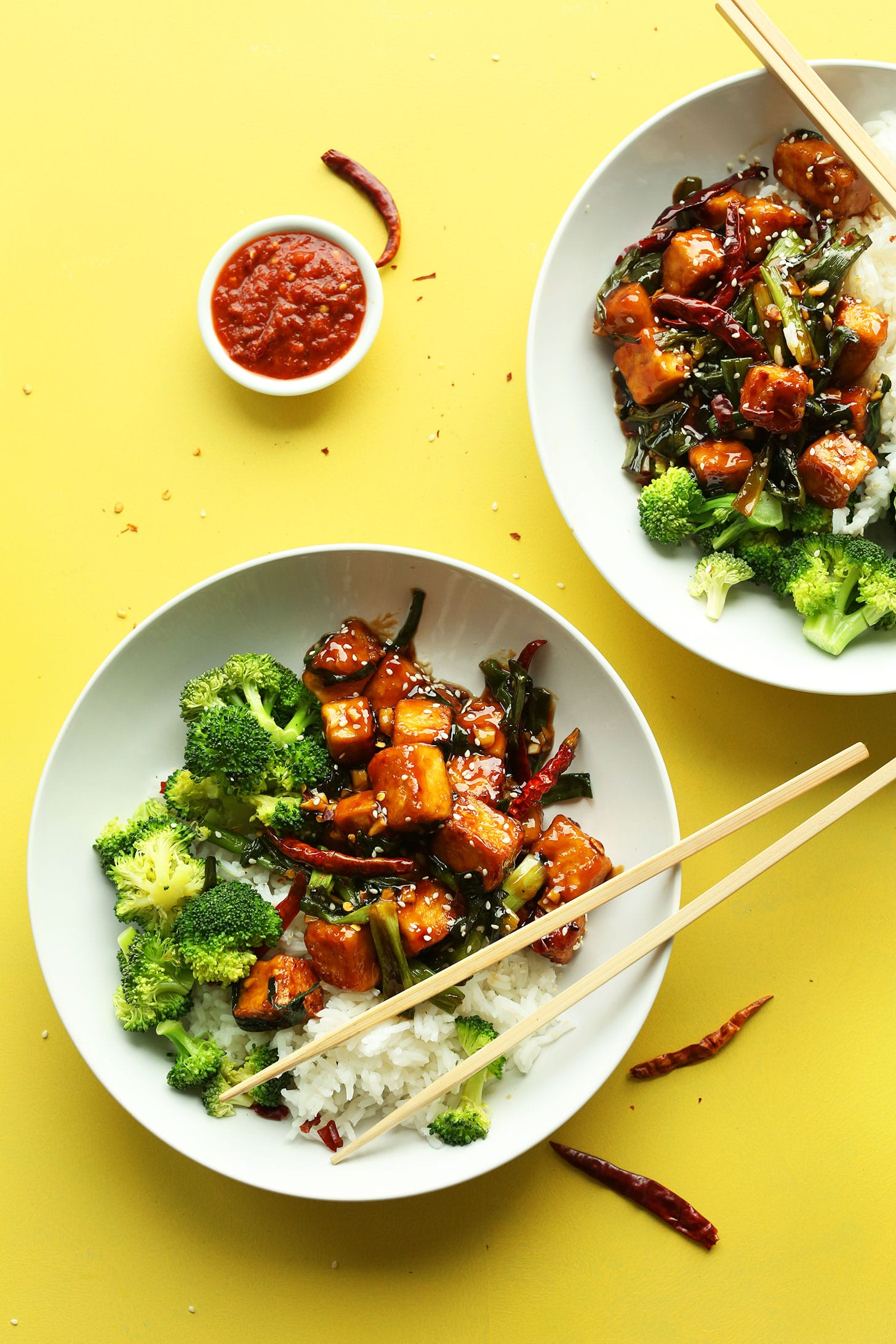 General Tso's Tofu Stir Fry from minimalistbaker.com on foodiecrush.com