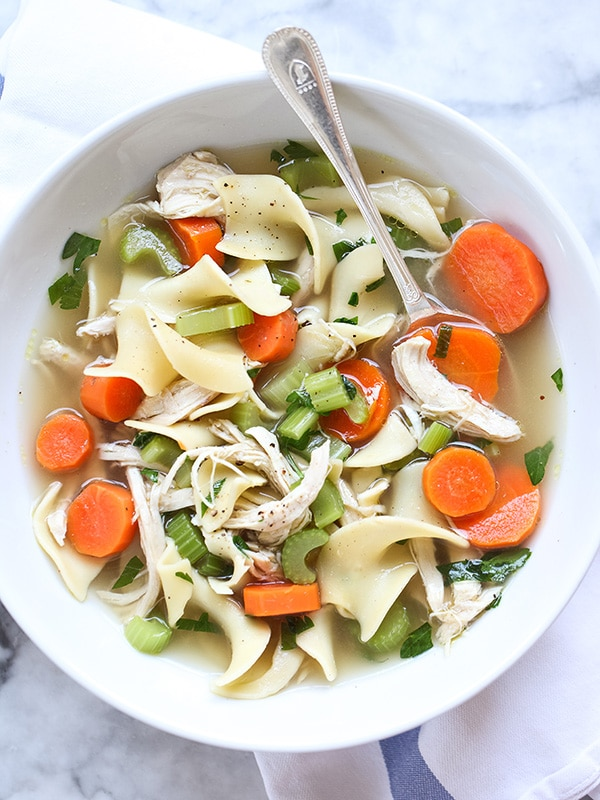 Homemade Chicken Noodle Soup from foodiecrush.com on foodiecrush.com
