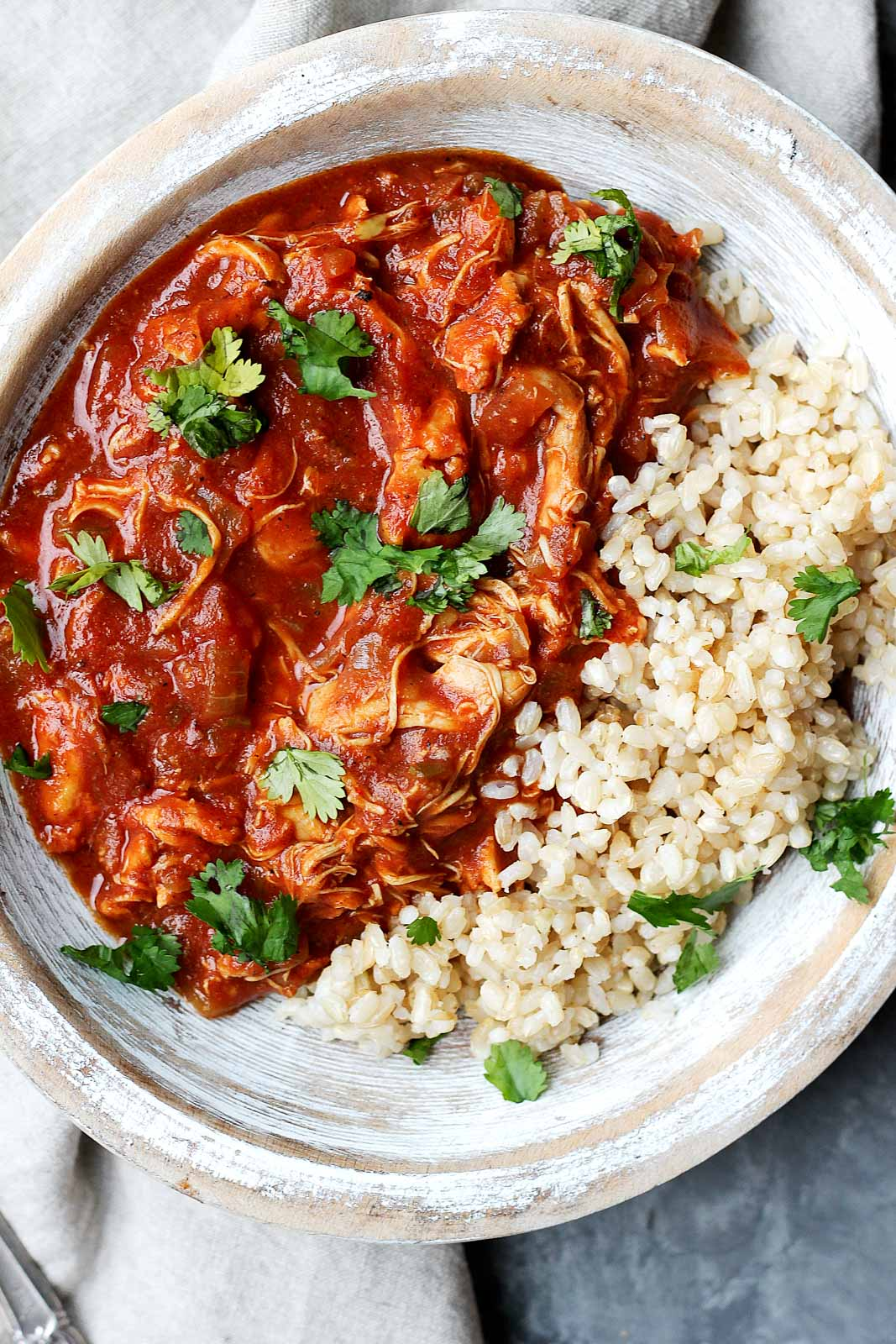 Healthy Slow Cooker Chicken Tikka Masala from ambitiouskitchen.com on foodiecrush.com