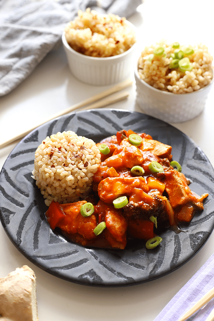 Slow Cooker Sweet and Sour Chicken from thehealthymaven.com on foodiecrush.com