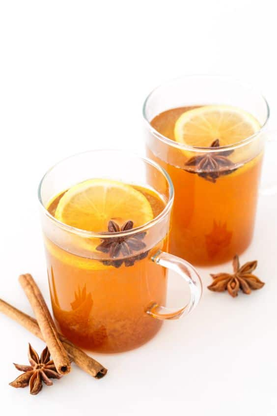 Spiced Chamomile Hot Toddy from loveandoliveoil.com on foodiecrush.com