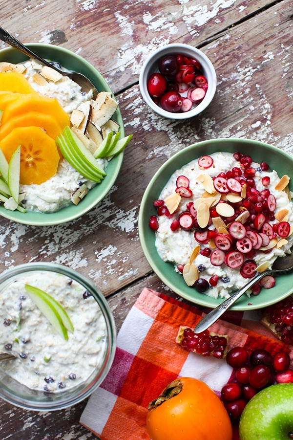 Apple Almond Bircher Meusli with Winter Fruits by Simple Bites on foodiecrush.com