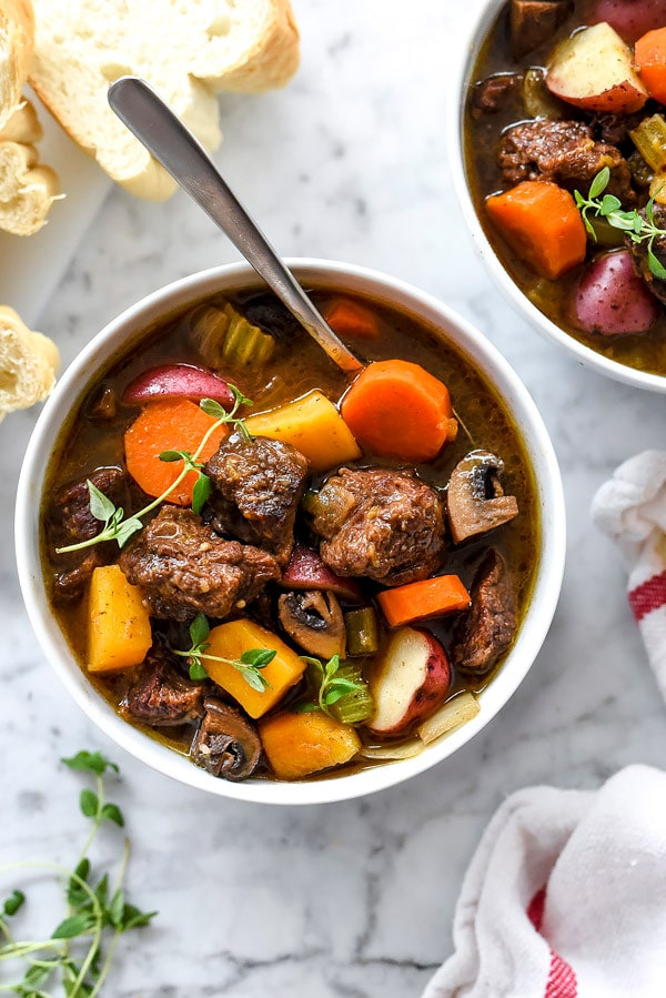 Butternut Squash Beef Stew for the Instant Pot, Pressure Cooker or Slow Cooker | foodiecrush.com