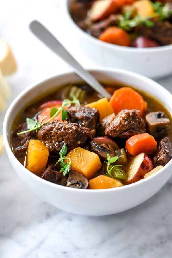 Butternut Squash Beef Stew for the Instant Pot, Pressure Cooker or Slow Cooker | #easy #crockpot #slowcooker #meat foodiecrush.com